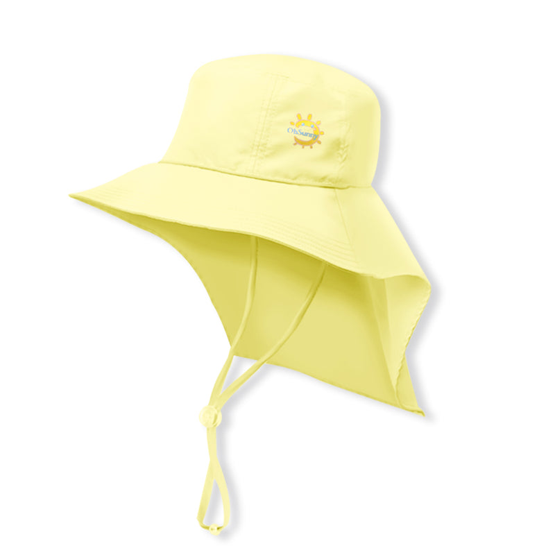 Yellow Kid's Boating Bucket Hat UPF 50+