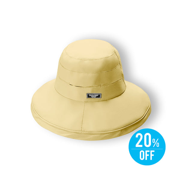 Yellow Women Seaside Bucket Sun Hat UPF 50+
