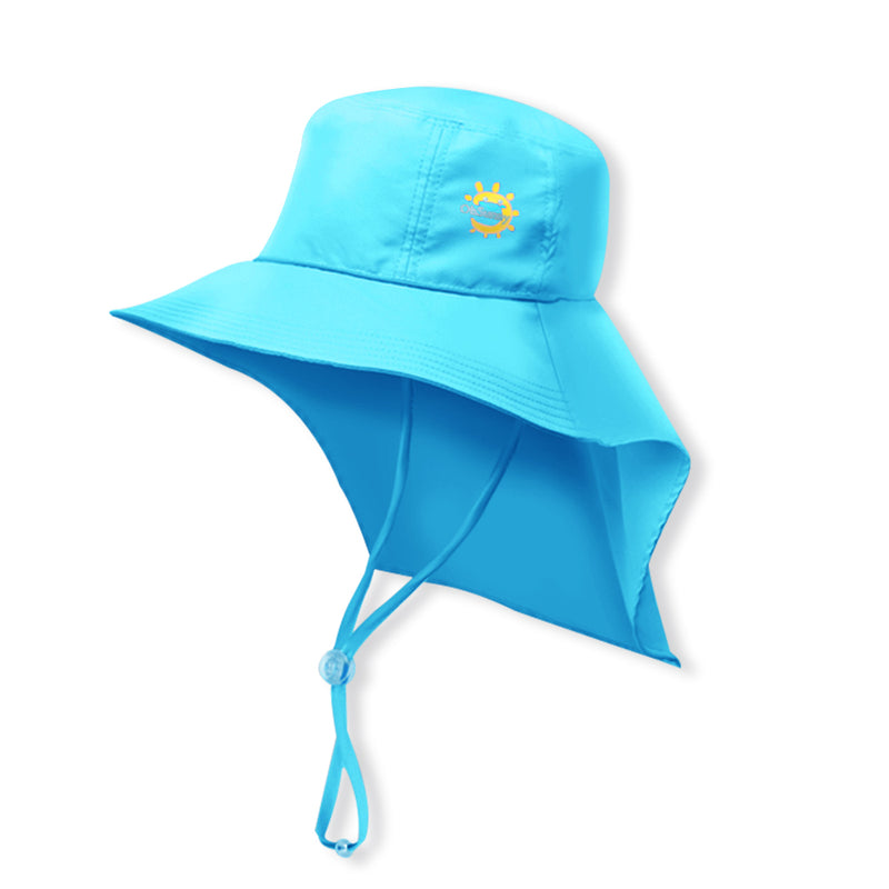 Blue Kid's Boating Bucket Hat UPF 50+