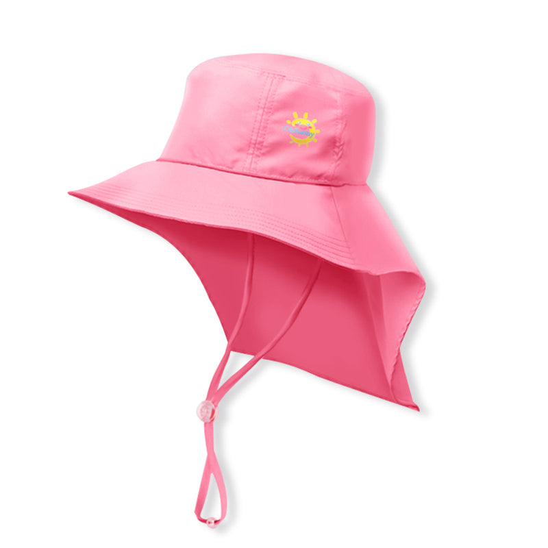 Pink Kid's Boating Bucket Hat UPF 50+