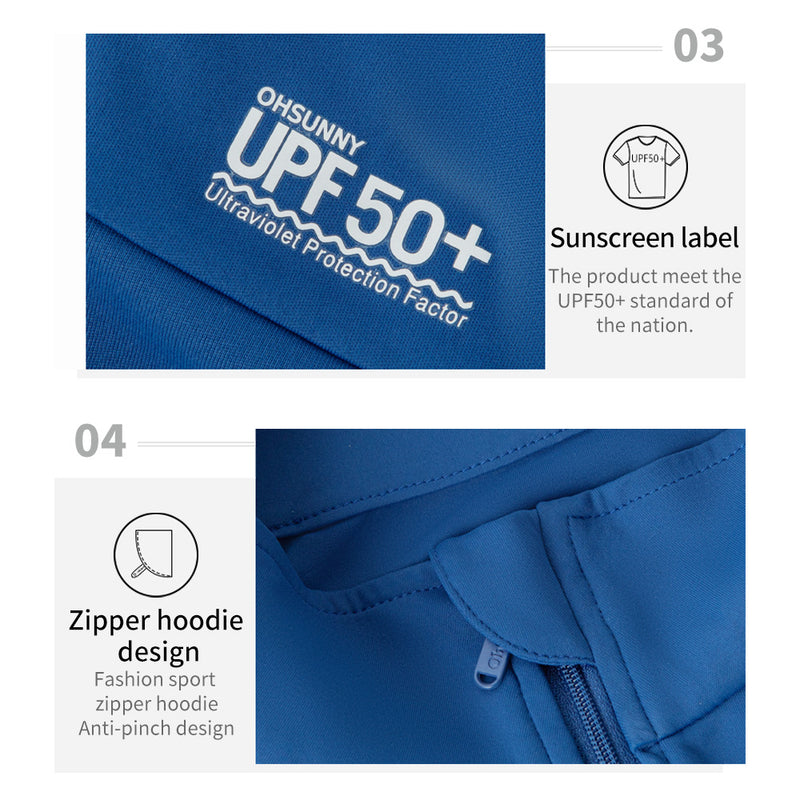 Men's Breathable Sunscreen Zip Jaket UPF50+