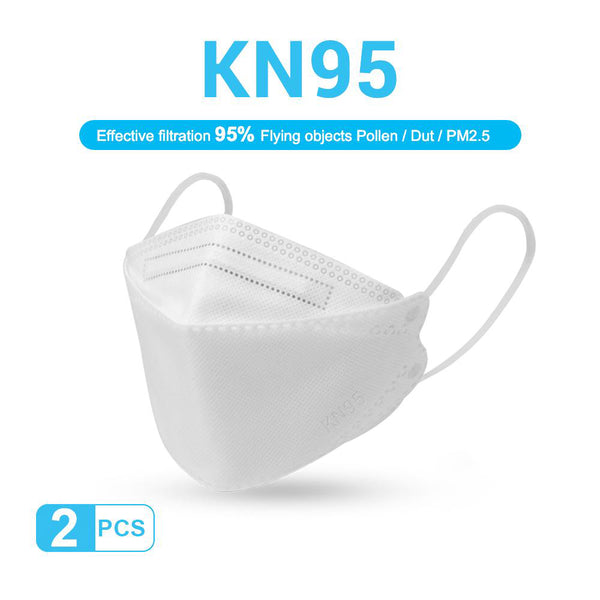 KN95 Four Layer Antiviral Face Mask - 2PCS Set