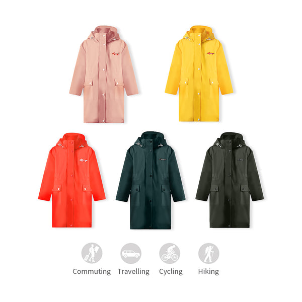 Kid's Long Waterproof Windbreaker UPF50+
