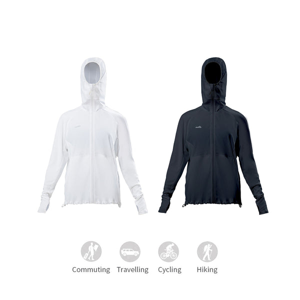 Women's High Collar Sports Sunscreen Hoodie UPF50+