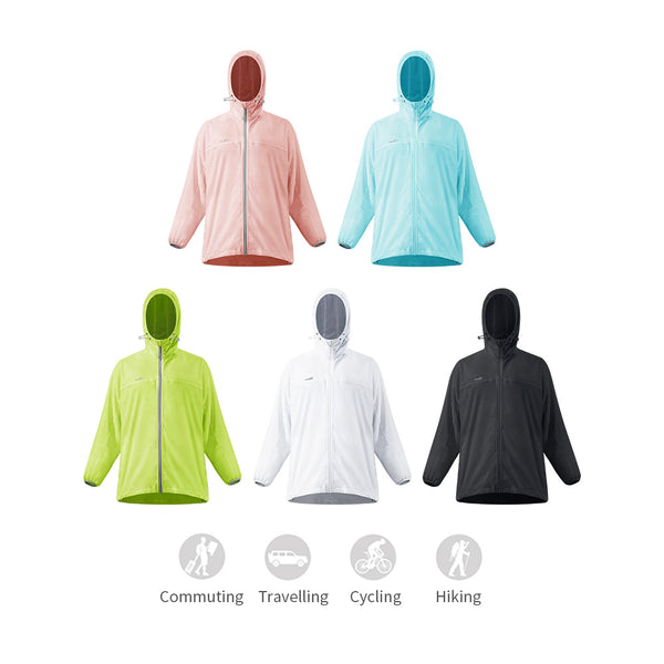 Women's Lightweight Reflective Stripes Sunscreen Hoodie UPF50+