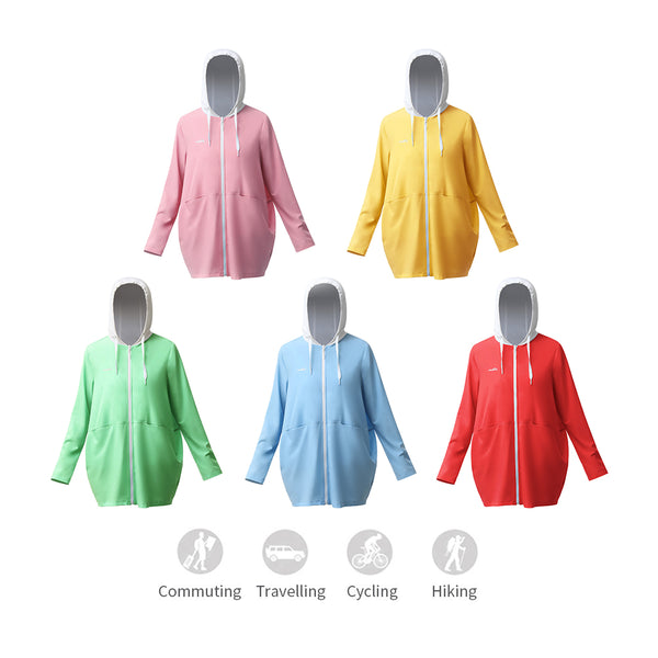 Women's Outdoor Long Contrast stitching  Hoodie UPF 50+