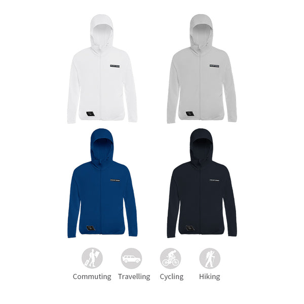 Men's Lightweight High Collar Sun-Protective Hoodie UPF50+