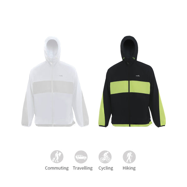 Men's Contrast Color Sunscreen Hoodie UPF50+