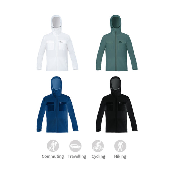 Men's Lightweight Loose High Collar Hoodie UPF50+