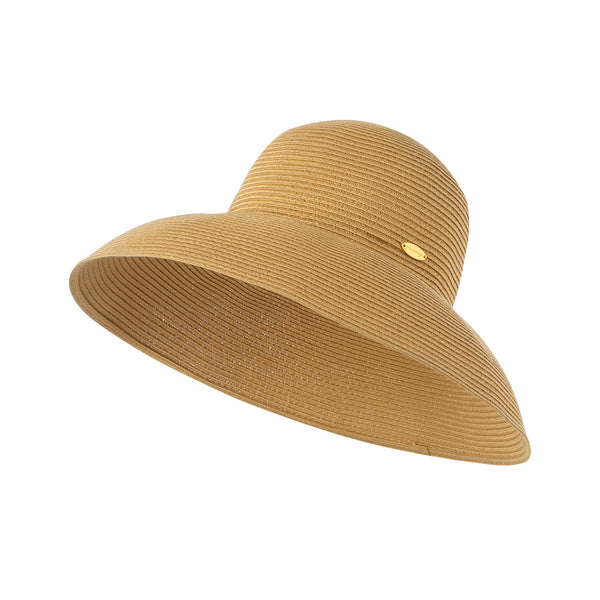 Khaki Women's Foldable Straw Hat UPF50+