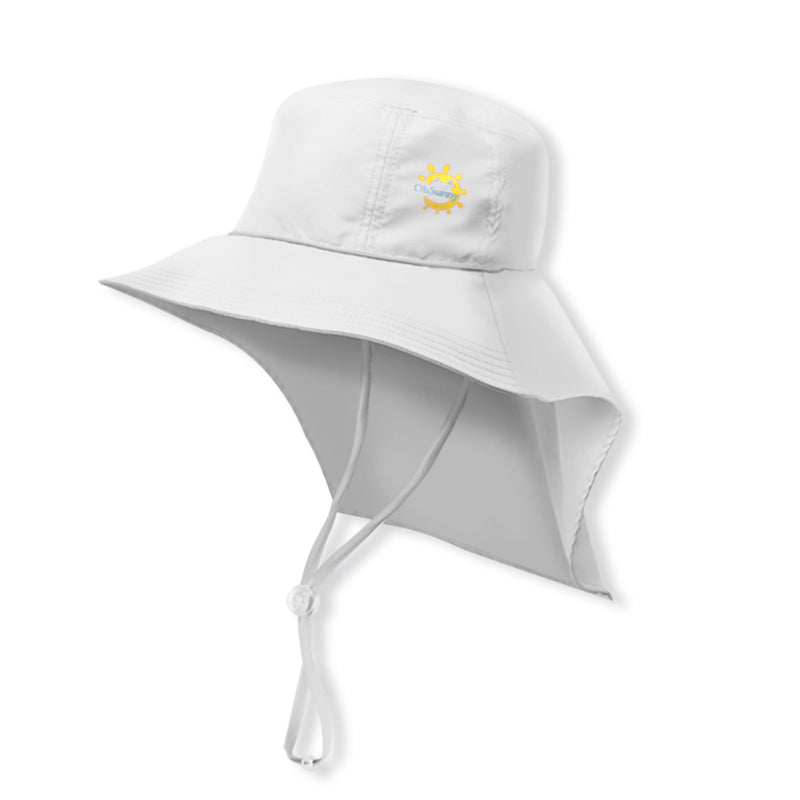 White Kid's Boating Bucket Hat UPF 50+
