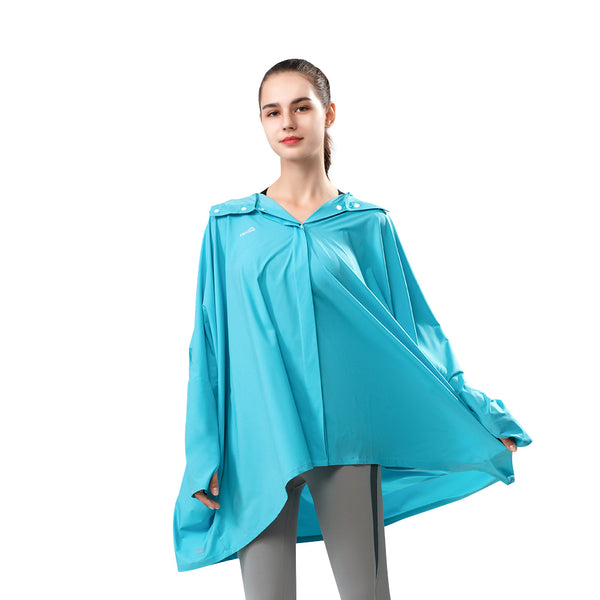 Women's Loose Breathable Hooded Botton Cloak UPF 50+