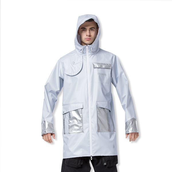 White Men's Sun Protective Anti-storm Trench Coat UPF50+