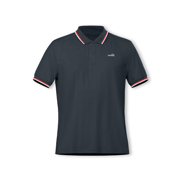 Black Men's Ultra Light Sunscreen Polo UPF50+