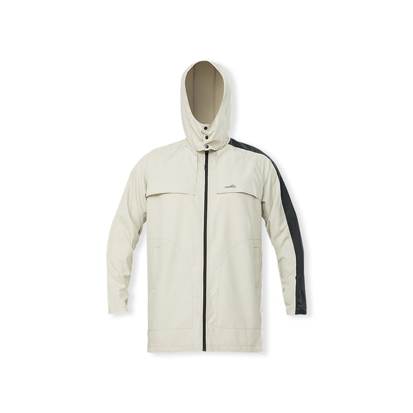 Cream Men's Removable Sunscreen Hoodie UPF50+
