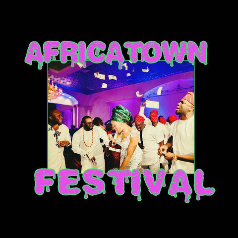 Africatown Festival: GBWMT T-shity (Black, Pink & Green)
