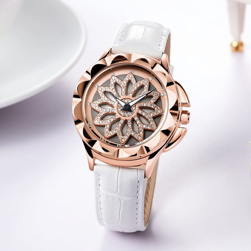 Rose Gold Quartz Wrist Watch