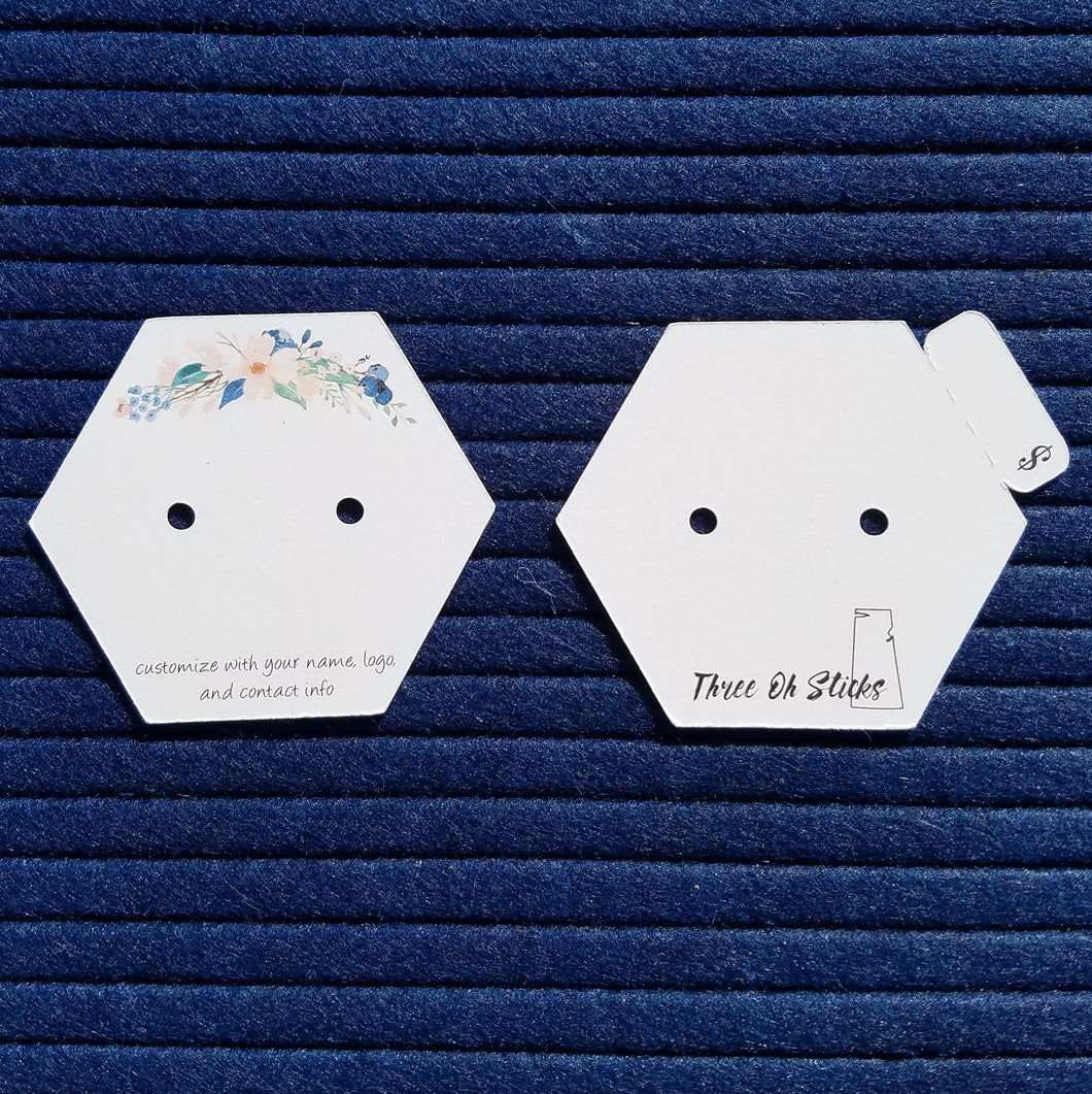 Earring Cards - Hexagon Shape