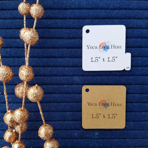 "1.5"" Square Hang Tags"