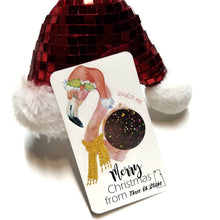 Load image into Gallery viewer, Flamingo Santa Christmas Scratch Off Cards