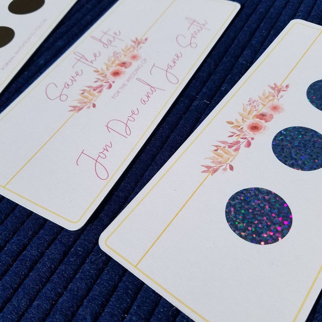 Save The Date - Floral Scratch Off Card
