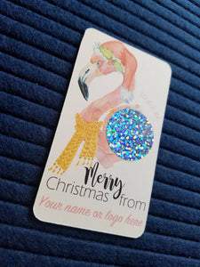 Flamingo Santa Christmas Scratch Off Cards
