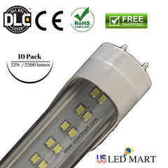 Retrofit fluorescent with 4ft 22w LED tube light bulbs 6500k 2200 lumens