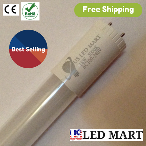 4ft 18w T8 G13 LED Tube Light 65W Fluorescent equivalent - 25 Pack