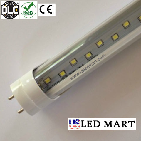 4ft 22w T8 LED Tube Light Bulb with Base G13/Bi-Pin double Row LED 5000K DLC Approved