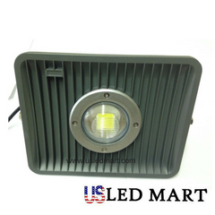 LED Flood Light Black 50w with Lens