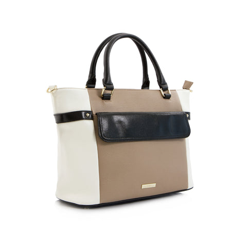 Spring Bliss East West Colour Block Tote - Neutrals