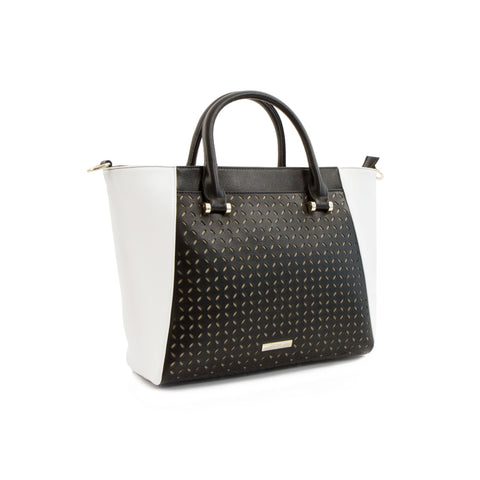 Spring Bliss Winged Laser Satchel - Black/White
