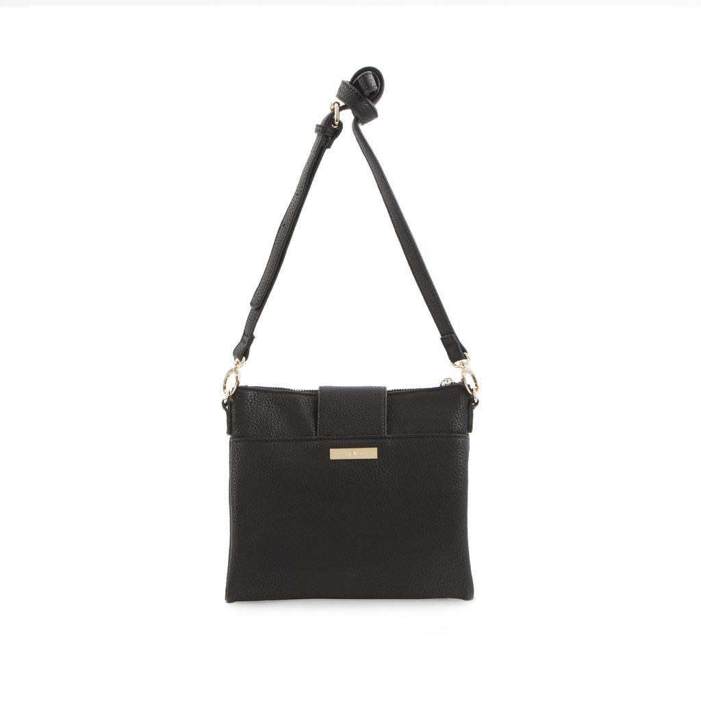 Spring Bliss Double Zip Crossbody - Black