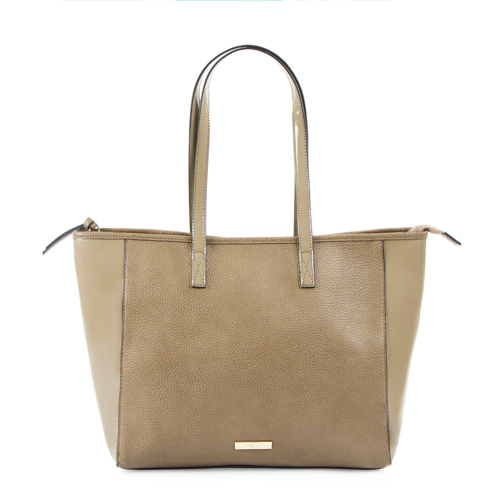 Bliss E/W Tote with Bonus Pouch - Taupe