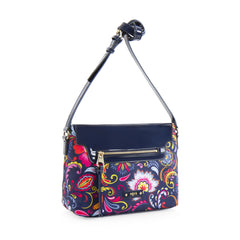 Bliss Printed Crossbody - Navy