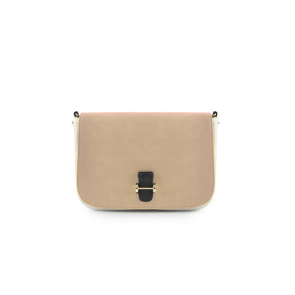 True Blue Colour Block Crossbody Sand/Bone