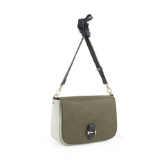 True Blue Colour Block Crossbody Olive/Bone