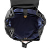 True Blue Laser Drawstring Backpack - Black