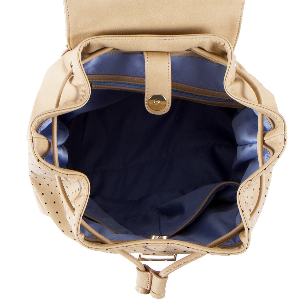 True Blue Laser Drawstring Backpack - Sand