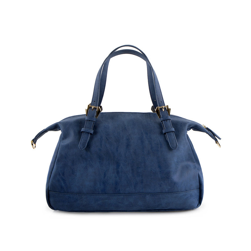True Blue Soft Satchel - Denim Blue