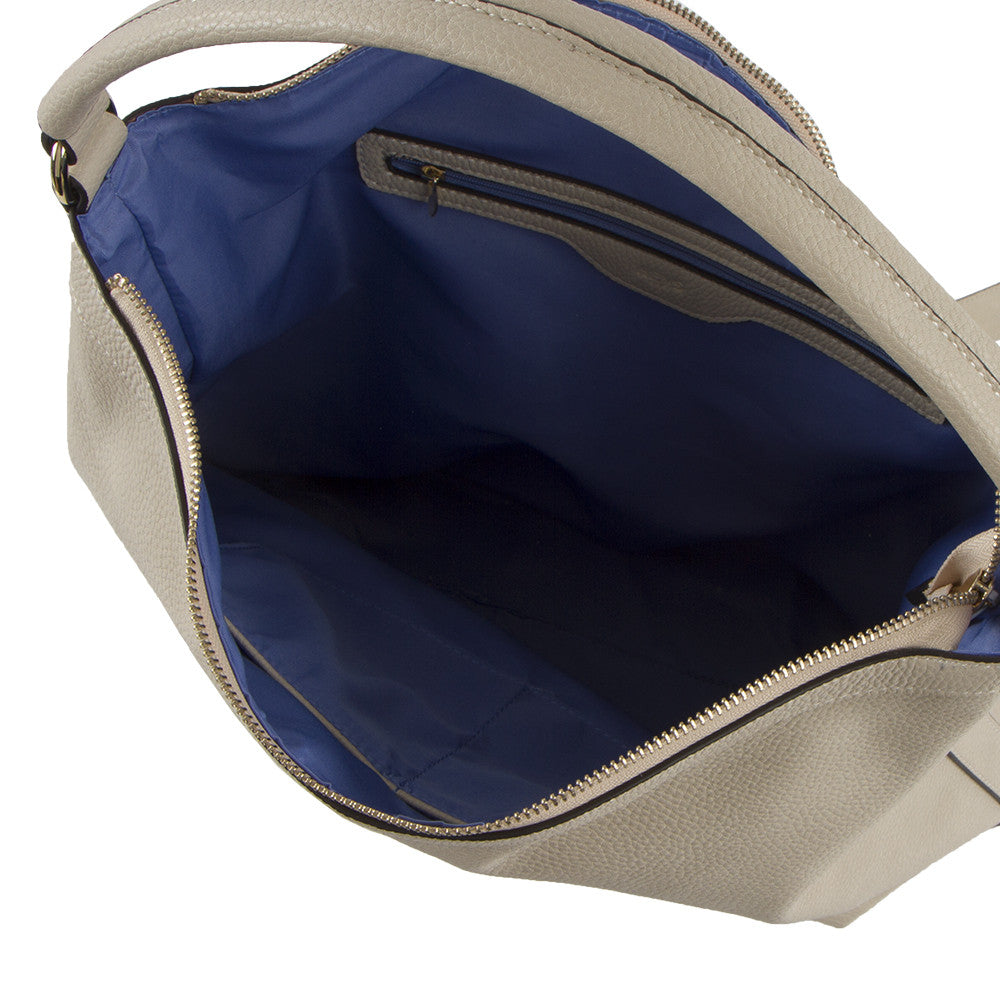 True Blue Large Hobo - Bone