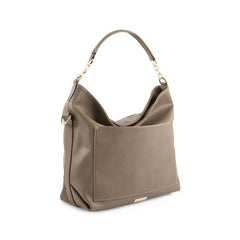 True Blue Hobo with Front Slip Pocket - Taupe