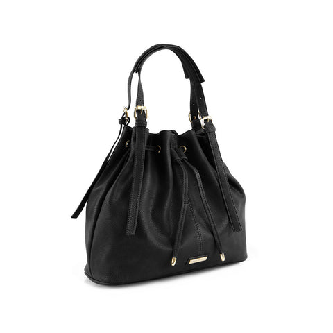 True Blue Drawstring Shoulder Bag - Black
