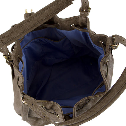 True Blue Drawstring Shoulder Bag