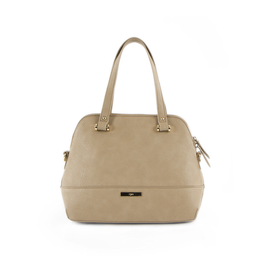 True Blue Dome Satchel Taupe