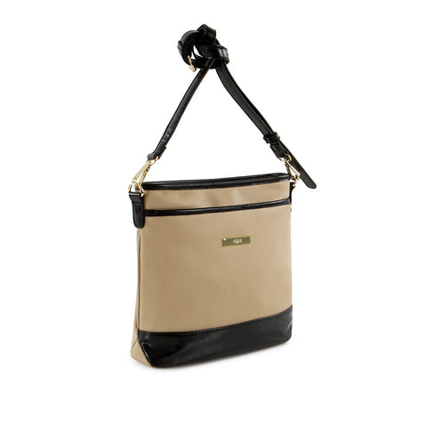 True Blue Square Crossbody - Taupe