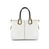 True Blue Tote w. Metallic Handles - White