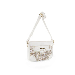 True Blue Laser Crossbody - White
