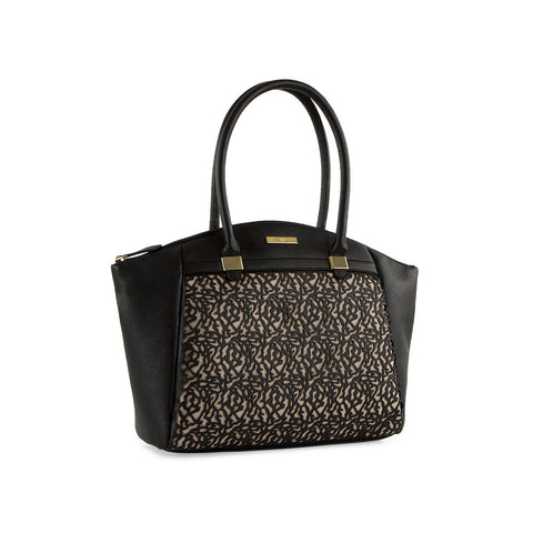True Blue Laser Large Dome Tote - Black