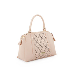 True Blue Diamond Laser Shoulder Bag - Blush